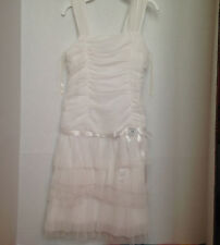 New Size 8 White Strappy Tiered Ruffle Dress by Philly From Burlington Coat