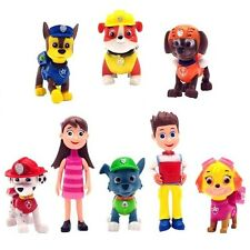 PAW PATROL 8 PCS Figures Marshall Rubble Chase Rocky Skye Cute Toys Kids Gift