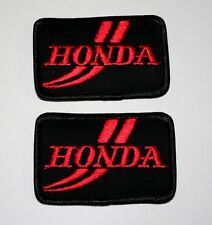 2 Vintage Honda Road Automotive Car Motorcycle Jacket Patch New NOS 1980s