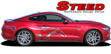2015-2017 Ford Mustang STEED Pony Horse Vinyl Graphics Door Stripe 3M Pro Decals