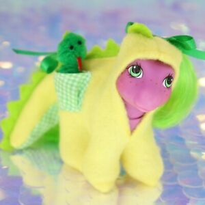 My Little Pony Wear DRAGON SUIT POCKET PAL + PLAYTIME BABY WADDLES G1 MLP BH895