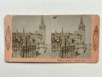 La Giralda Siviglia Sevilla Spagna Foto J.Andrieu Stereo Vintage Albumina