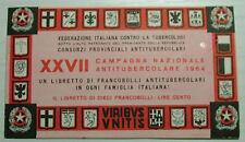 1964   XXVII° CAMPAGNA  ANTITUBERCOLARE - LIBRETTO completo