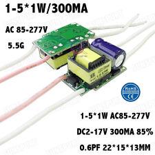 10PCS AC85-277V 5W LED Driver 1-5x1W 290mA DC2-17V Constant Current For1-5PCS 1W