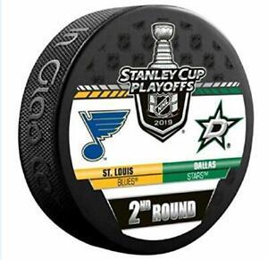 ST. LOUIS BLUES v DALLAS STARS 2nd Round 2019 Playoffs NHL DUELING SOUVENIR PUCK