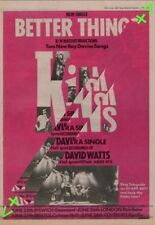 Kinks The Better Things Tour Advert NME Cutting 1981