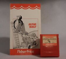 Alpha Build by Fisher-Price for Commodore 64 1984 Learning Software Cartridge DB