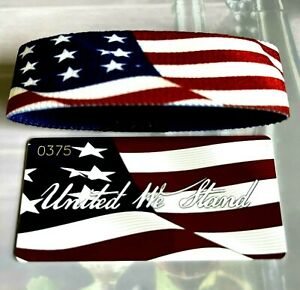 ZOX Strap UNITED WE STAND - American Flag - Reversible Wristband