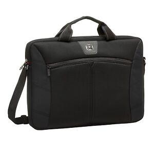Wenger Sherpa Slim Black 14.1 inch Laptop Netbook Computer Bag Durable