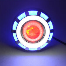 Blue&White High/Low Beam LED Projector Headlight For Motorcycle Angel  Devil Eye