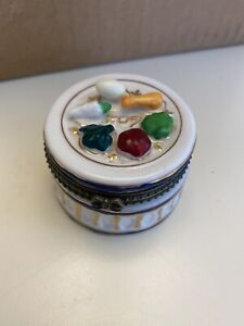 Jacob Rosenthal Collection Sedar Plate Porcelain Box-Limoges Style-With Matzoh
