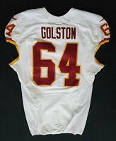 #64 Kedric Golston of Redskins NFL Locker Room Game Issued Player Worn Jersey