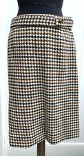 VTG Jackfin Skirt Size 14 Wool Brown/Black Houndstooth Knee Length  A Line