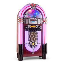 Rockola Bluetooth USB SD CD sinfonola Jukebox Radio Vintage Retro FM AM luz LED