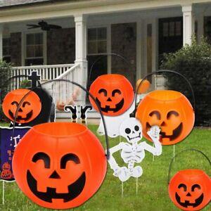 Pumpkin Candy Pot Holder Trick-or-treat Halloween Party Cauldron Buckets QV