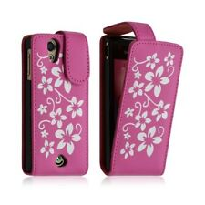 Cover Case for Sony Ericsson Xperia Ray Pattern Flowers Color Pink Fuschi