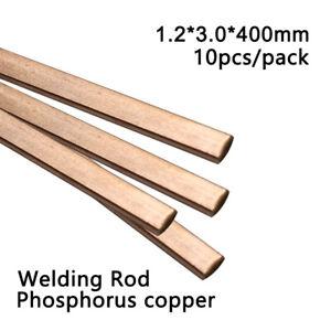 Brazing Alloy Welding Rod Air Cooler Copper Phosphorus Solder Flat 10pcs/pack