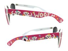 Women's Pink Sunglasses with Dogs, Paw Prints, Dog House, Flowers, Butterflies