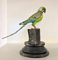 Silver and enamel Parrot hand made by francesco rigozzi