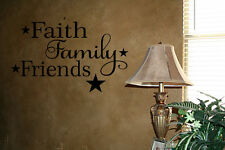 FAITH FAMILY FRIENDS WALL ART VINYL LETTERING WORDS DECALS HOME DECOR STICKER