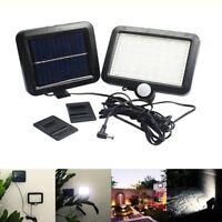 Luz del sensor de movimiento de energia solar al aire libre 56LED Lampara de  O1
