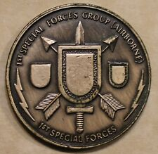 1st Special Forces Group Airborne 1st Special Forces ser#79 Army Challenge Coin