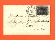"""US #90 12c Washington """"E"""" Grill on cover with Philatelic Foundation Certificate"""