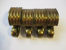 Vintage Cast Brass Furniture Casters Wheel Parts lot of 4