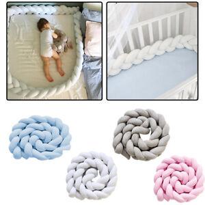 1/2/3M Cot Bumper Braid Pillow Nursery Braided Kids Bed Decor for Crib Nursery