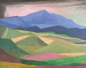 Western Montana Wyoming Mountain Landscape OIL PAINTING ART IMPRESSIONIST Cubist