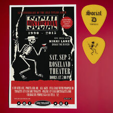 Social Distortion 2015 Original Concert Poster + M. Ness Guitar pick. Portland