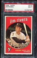 1959 Topps Baseball #213 JIM RIVERA Chicago White Sox PSA 7 NM