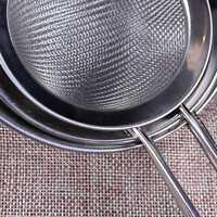 Kitchen Stainless Steel Wire Fine Mesh Oil Strainer Flour Colander Sifter Sieve