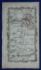 Rare antique road map, YORKSHIRE, TADCASTER, YORK, Mostyn Armstrong, 1776