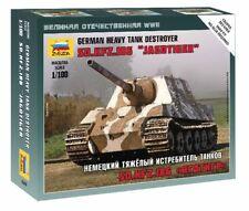 Sd.kfz.186 Jagdtiger Heavy Tank Destroyer Plastic Kit 1:100 Model ZVEZDA