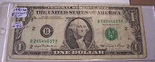 FANCY ONE DOLLAR FEDERAL RESERVE NOTE 1981 ser# B 28544607 F