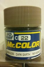 Gunze Sangyo acrylic paint C-22 Dark Earth 10ml.
