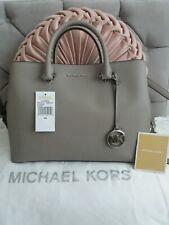 Michael Kors Savannah Leather Large Pearl Grey Satchel Bag