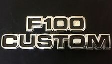 75-80 FORD PARTS F100 CUSTOM BADGE NEW  LICENSED FORD PRODUCT