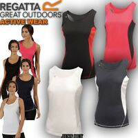 Regatta Vest Women Rio Sleeveless Hiking Fitness Work Gym Sport Running Yoga Top