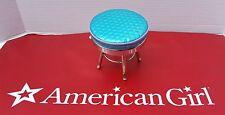 RETIRED AMERICAN GIRL DOLL METALLIC HAIR SALON STOOL DESK CHAIR  BLUE VERY RETRO