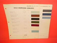 1952 HUDSON HORNET PACEMAKER COMMODORE HORNET WASP CONVERTIBLE PAINT CHIPS 52