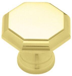Octagonal Knob Solid Brass Kitchen Cabinet Dresser Hardware PN0826M
