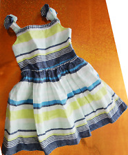 GYMBOREE Girl's COTTON Sleeveless SUMMER SUN DRESS Blue/Gray/Green SZ 5 NWT $44