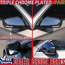 2014 2015 2016 2017 Chevy Impala Triple Chrome Mirror Covers Overlays Trims Caps