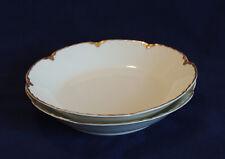 "2 Vintage Haviland Limoges.. Ranson Pattern.. 7.5"" Soup / Salad Bowl.. Gold Trim"