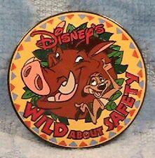 Timon And Pumba Safety Pin Logo Wdw Pin
