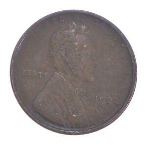 Semi Key 1922-D VF/XF Lincoln Wheat Cent - Sharp *437