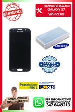 DISPLAY LCD VETRO TOUCH SCHERMO PER G930F S7 G930 SAMSUNG NERO SERVICE PACK
