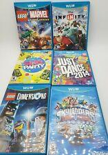 Lot of 6 Wii U Nintendo Games: Sing Party, Just Dance 2014, Lego Superheroes+